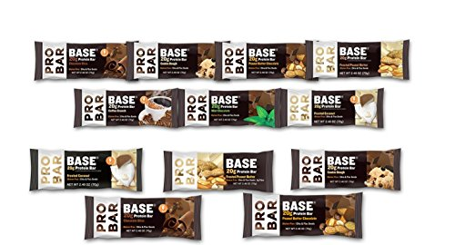 ProBar Base Bar - All Flavors Sampler Variety Pack - ( Pack Of 12), 2.46 Ounce With Snack Pouch 8'' x 7'' Reusable Snack Pouch by Probar