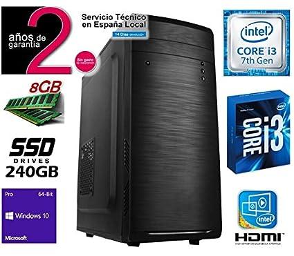 Megamania Ordenador Sobremesa Intle Core i3 7100 up to 3.9Ghz x 2 ...