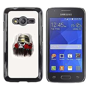 Paccase / SLIM PC / Aliminium Casa Carcasa Funda Case Cover - Solider Rose Skull Death Flowers War - Samsung Galaxy Ace 4 G313 SM-G313F