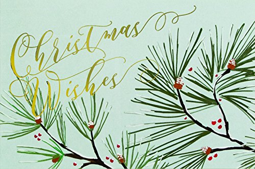 The Gift Wrap Company 995424 Boxed Holiday Christmas Cards 4 x 6-inches Season Sprigs