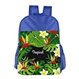 Kids School Backpacks Tropical Aloha With Plants And Flowers Shoulders Bags Schoolbag For Teens Boys Girls Students For Sale