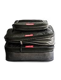 LeanTravel - Juego de 3 cubos de compresion, organizadores de equipaje