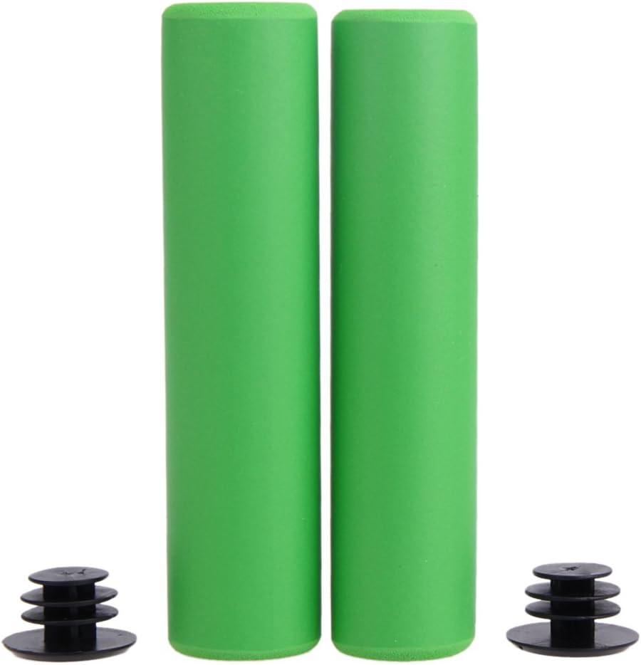 Par de manguitos ultraligeros de silicona para manillar de bicicleta agarre para bicicleta de monta/ña o plegable