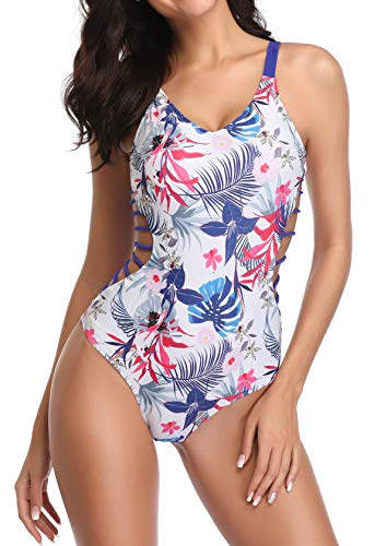 Tempt Me Women 1 Piece Plunge Monokini Sexy Hollow Out Swimsuits Bathing Suit