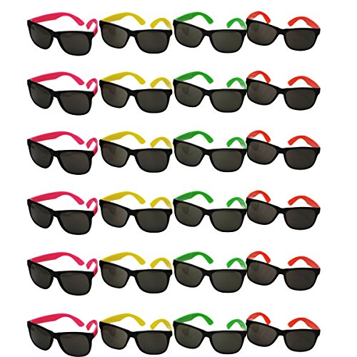 Funny Party Hats TM bulk wholesale Lot - neon Party Sunglasses,24 - La Sunglasses Wholesale