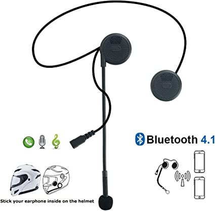 Hands-Free Microphone for Motorcycle Motorbike Skiing Helmet Headphones Music Call Control LeaningTech Wireless Motorcycle Helmet Headset Work with Bluetooth 4.0