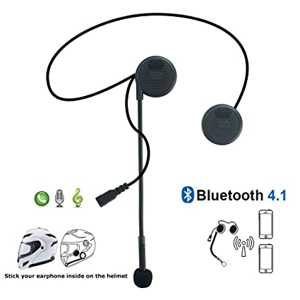 iMESTOU Motorcycle Bluetooth Headphones with Microphone for Helmet on