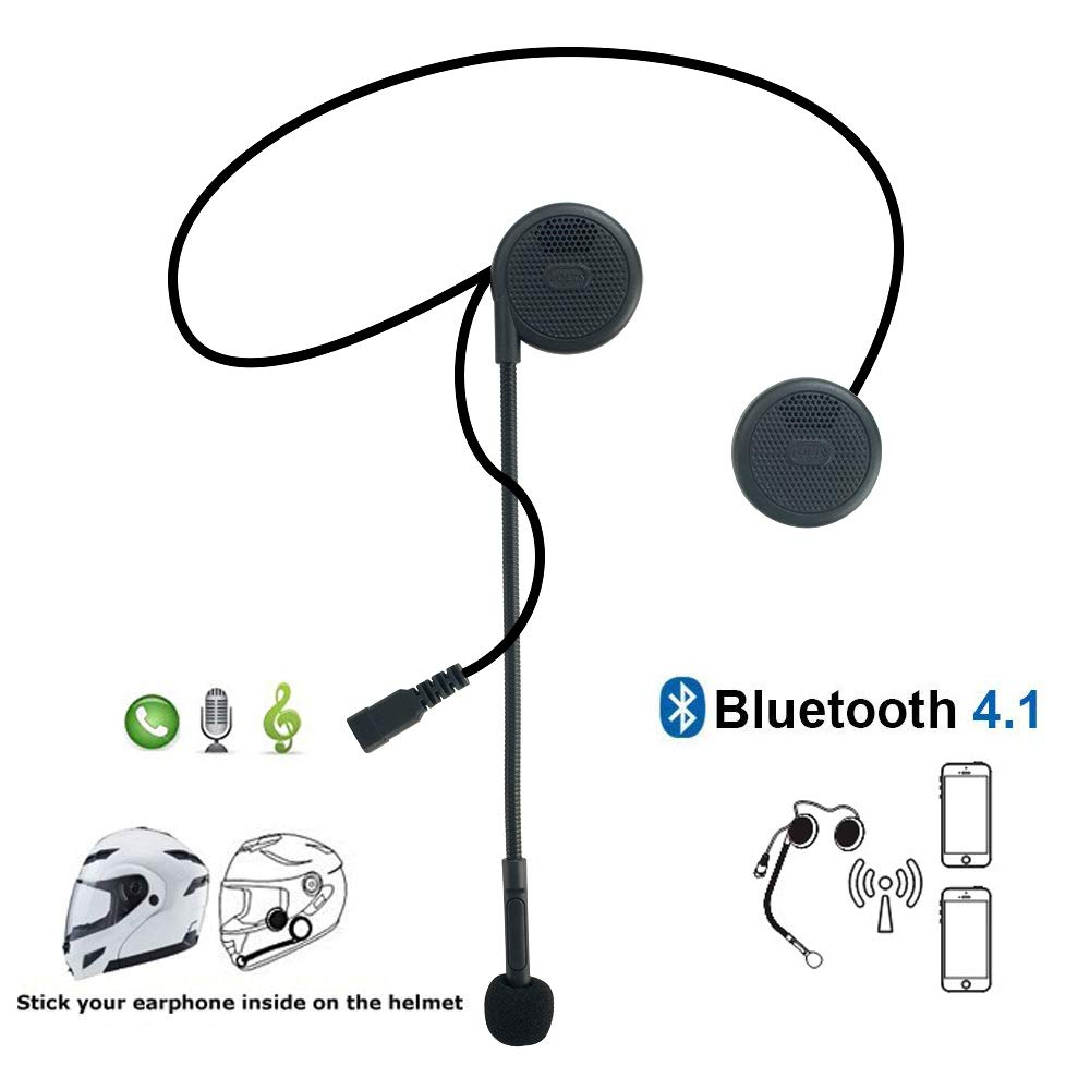 Meetou Motorcycle Helmet Headset Bluetooth Headphones with Microphone compatible for BMW Motorbike High Sound Quality System for Harley davidson