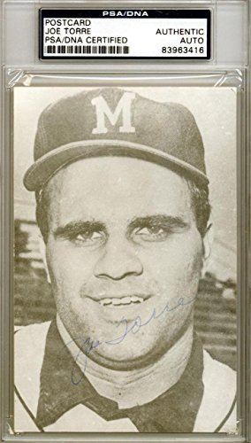 Joe Torre Autographed Signed 3.5x5.5 Postcard Milwaukee Braves #83963416 PSA/DNA Certified MLB Cut Signatures