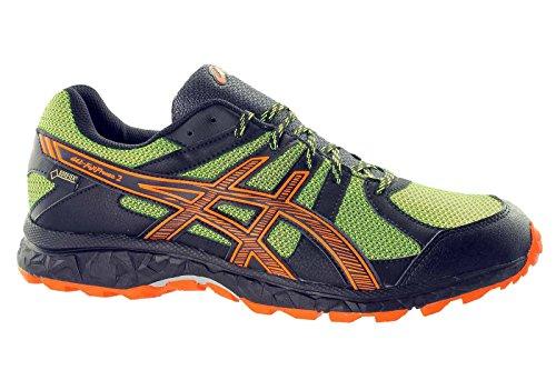 Asics , Chaussures multisports d'extérieur pour homme Onyx/Flash Orange/Flash Yellow