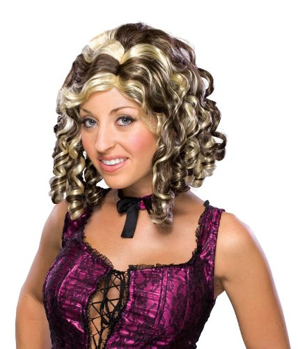 Rubie's Costume Banana Curl 2-Tone Wig, Brown, One (Banana Curls Costumes Wig)