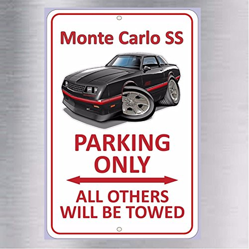 ttsdale Monte Carlo SS Parking Only Metal Aluminum Sign Super Sport Chevy Chevrolet New ()