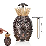 H & B Kitchen Restaurant Automatic Functional Decorative Accessories Toothpick Holder. (Material: Zinc Alloy, Red)