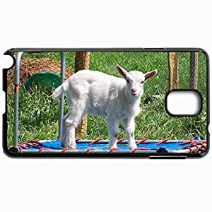 Customized Cellphone Case Back Cover For Samsung Galaxy Note 3, Protective Hardshell Case Personalized Goat Lamb Grass Flip Grid Black