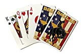 Dallas, Texas - Cowboy and Bucking Bronco (Playing Card Deck - 52 Card Poker Size with Jokers)