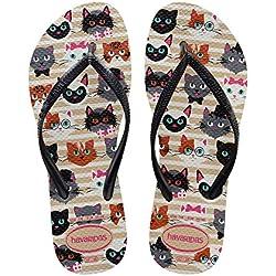 Havaianas Slim Pets Sandal (Sand Grey-39-40 BR / 9-10 M US)
