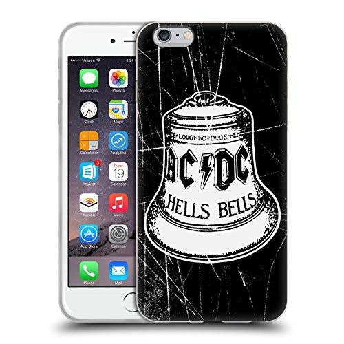Officiel AC/DC ACDC Cloche Blanche Logo Étui Coque en Gel molle pour Apple iPhone 6 Plus / 6s Plus