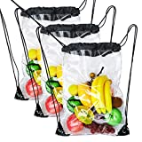 3 Pack Clear Drawstring Backpack Bags Waterproof Transparent Drawstring Bag Review