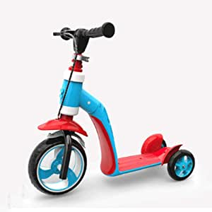 Mopoq 2-in-1 Adjustable Tricycle Balance And 3-wheel Scooter 2-6 Years Old Child Boy Or Girl Scooter Children Can Sit Child Baby Toddler Men And Women Slippery Yo