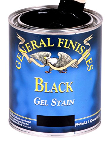 (General Finishes BLG Oil Base Gel Stain, 1 Gallon, Black)