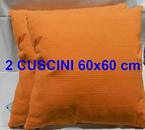 CUSCINO ARREDO 2pz di CUSCINI ARREDO 60x60 cm EFFETTO CANAPA 100 ...