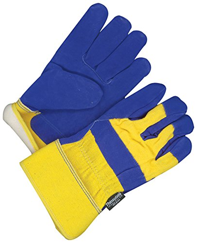 Bob Dale Gloves 309473TFLW Fitter Glove Split Cowhide Lined Thinsulate C100 Blue//Gold,