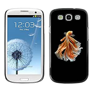 Goldfish Negro Naranja Exótico buceo mascotas- Metal de aluminio y de plástico duro Caja del teléfono - Negro - Samsung Galaxy S3