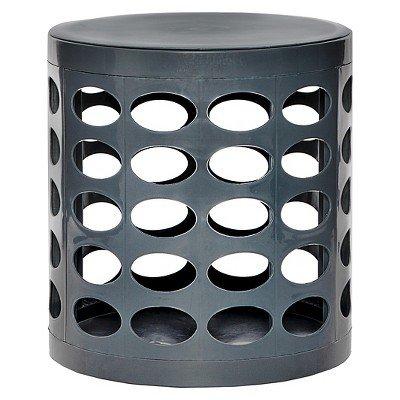 GitaDini Storage Ottoman - Perforated Gray Gray by gitadini