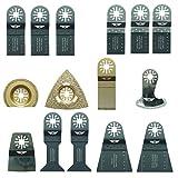 15 x TopsTools UNKA15 OMT Mix Blades for Bosch, Fein MultiMaster, Makita, Milwaukee, Genesis, Chicago, Craftsmen Nextec, Rockwell, Ryobi, Hitachi Multi Tool Accessories