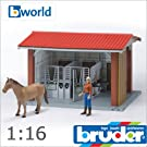 bruder ブルーダー 62520 馬飼育小屋セット(フィギア付き) 1/16 ビーワールド