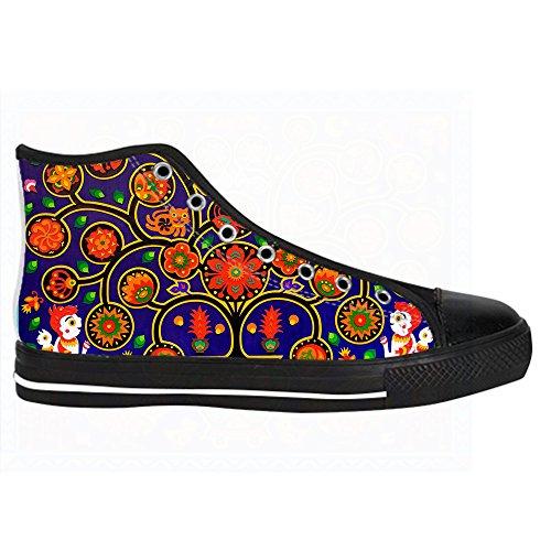Custom paisley Mens Canvas shoes Schuhe Lace-up High-top Sneakers Segeltuchschuhe Leinwand-Schuh-Turnschuhe A