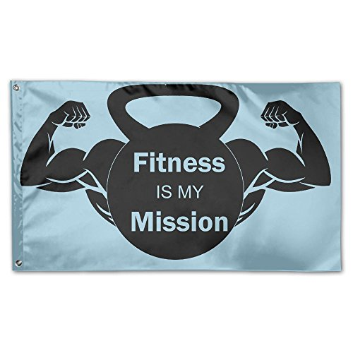 YUANSHAN Home Garden Flag Fitness Is My Mission Polyester Fl