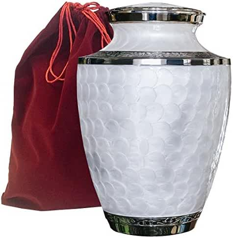Everlasting Love Adult Cremation Urn For Human Ashes - Beautiful, Timeless and Elegant Urn To Honor The One You Love - Find Comfort Everytime You Look At This High Quality Urn - With Velvet Case