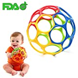 Classic Bendable Ball Toy,Multicolored Baby Ball Toy Soft Touch Bite Caught Hand Oball Ball Sensory Teether Toy for Baby Learning Grasping Kids Toddler Gift,Assorted