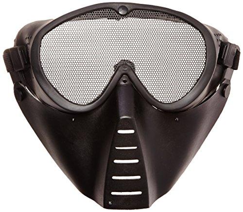 GSG 201561 Maske Softair Masque facial avec grille au niveau des yeux Noir