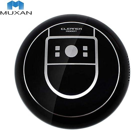 Muxan - Robot de aspiración ultrafino de 70 mm, aspirador más potente para limpieza de pelos, alfombras y suelos ...