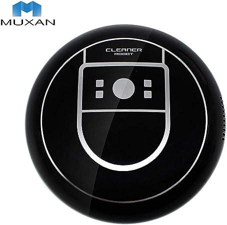 Muxan - Robot de aspiración ultrafino de 70 mm, aspirador más potente para limpieza de pelos, alfombras y suelos duros Negro: Amazon.es: Hogar