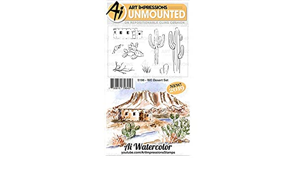 WC Mountain ART IMPRESSIONS 5198 AI Rubber Stamp Set MNTAIN