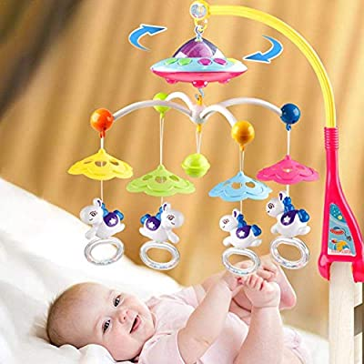 YYSDH Juguetes para bebés Cuna Cuna móvil con Luces con la música ...