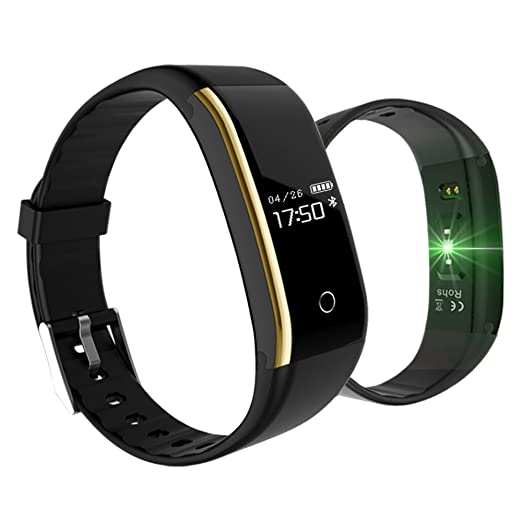 Amazon.com: KINGBERWI Fitness Tracker, Activity Tracker with Heart Rate Monitor, IP67 Waterproof Bluetooth Pedometer Wristband, Blood Pressure Oxygen Sleep ...