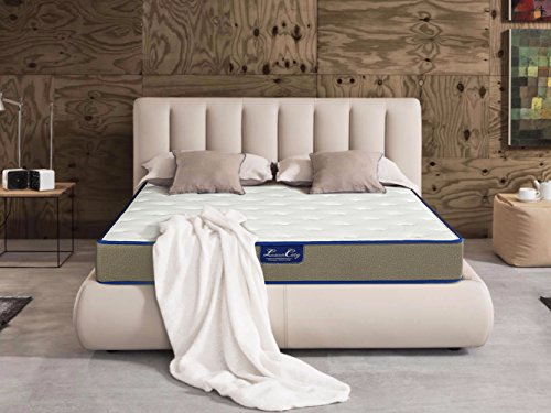 Luxurcozy 10 Inch Luxury Individually Wrapped Pocketed Encased Coil Spring Hybrid Memory Foam & Gel Memory Foam Mattress, QUEEN - Wrapped Coil