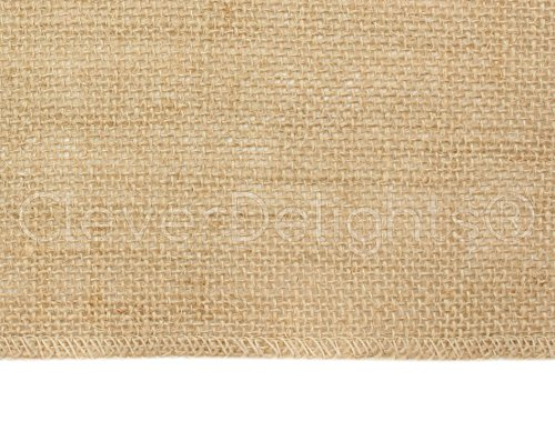CleverDelights 12'' Premium Burlap Roll - 100 Yards - No-Fray Finished Edges - Natural Jute Burlap Fabric by CleverDelights (Image #1)