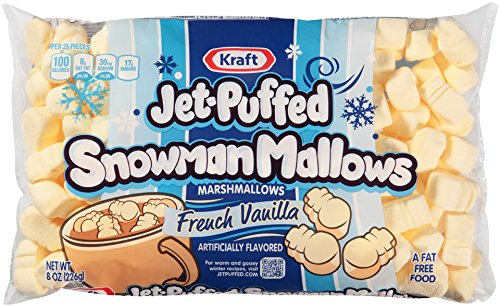 Kraft Jet Puffed Snowman Mallows French Vanilla Marshmallows, 8 oz. - Flavored Marshmallows