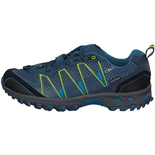 CMP Atlas, Chaussures de Trail Homme, Nero-Yellow Fluo Bleu (Maiolica-limeade 71bn)