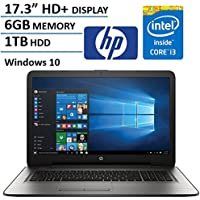 HP 17.3 HD+ Display Laptop Computer, Intel Dual Core i3-6100U 2.3Ghz Processor, 6GB Memory, 1TB HDD, USB 3.0, DVDRW, HDMI, Bluetooth, WIFI, RJ45, Windows 10 Home (Certified Refurbished)