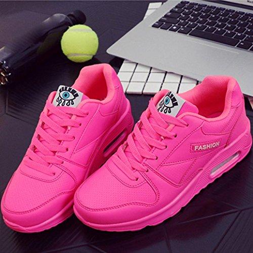 Outdoor Pink Freizeitschuhe Lace Wanderschuhe Damen Mode DEELIN Wohnungen Schuhe up Schuh Damen xqwn6CP7