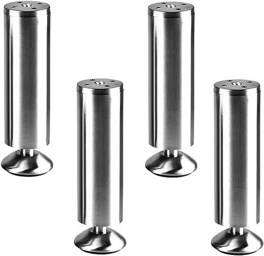 Patas para Muebles,(4 Piezas) Ajustable Engrosada Acero Inoxidable ...