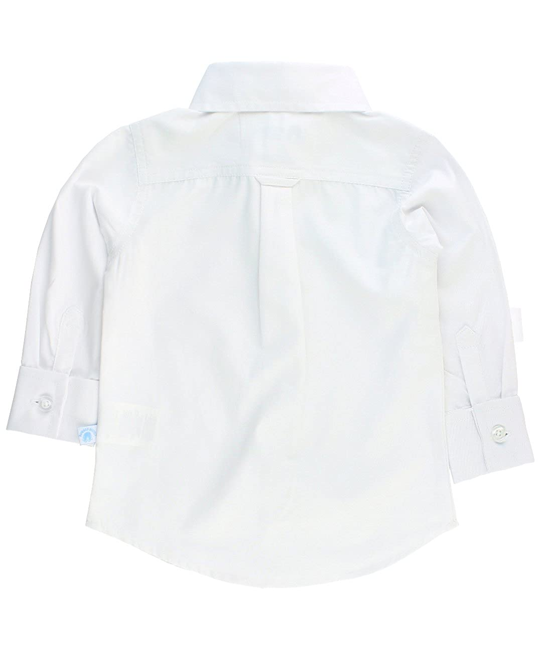 RuggedButts Baby//Toddler Boys White Formal Button Down BLWWHXX-FC00-BABY