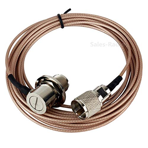 Fumei 5 Meter Antenna Extension Coaxial Cable UHF Male to Female by RG316 Cable for Mobile Radio Vehicle Car Ham Radio