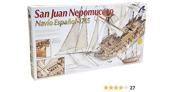 Artesanía Latina 22860. Maqueta de Barco en Madera San Juan Nepomuceno 1/90